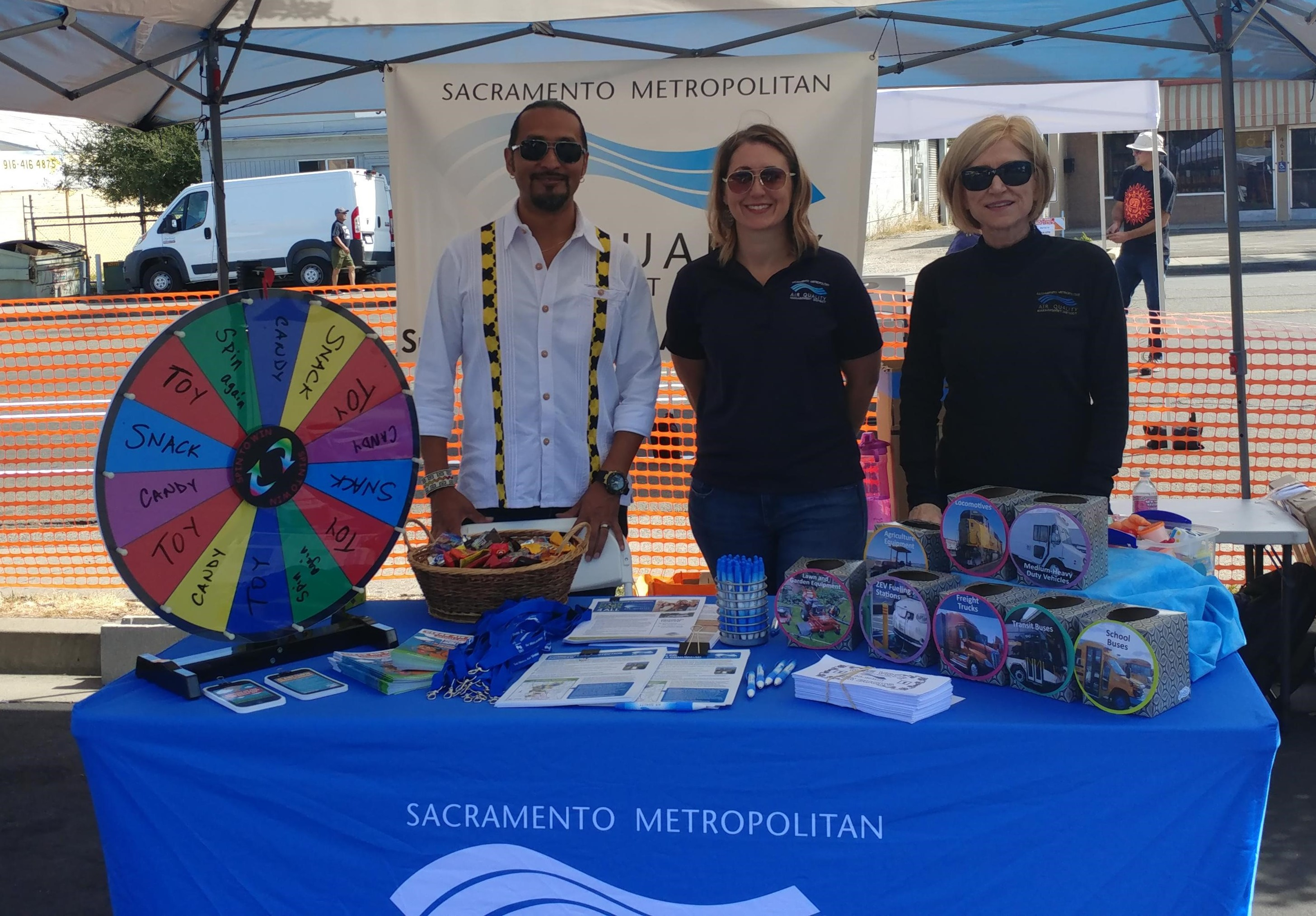 Sac Metro District staff at Back to the Blvd.